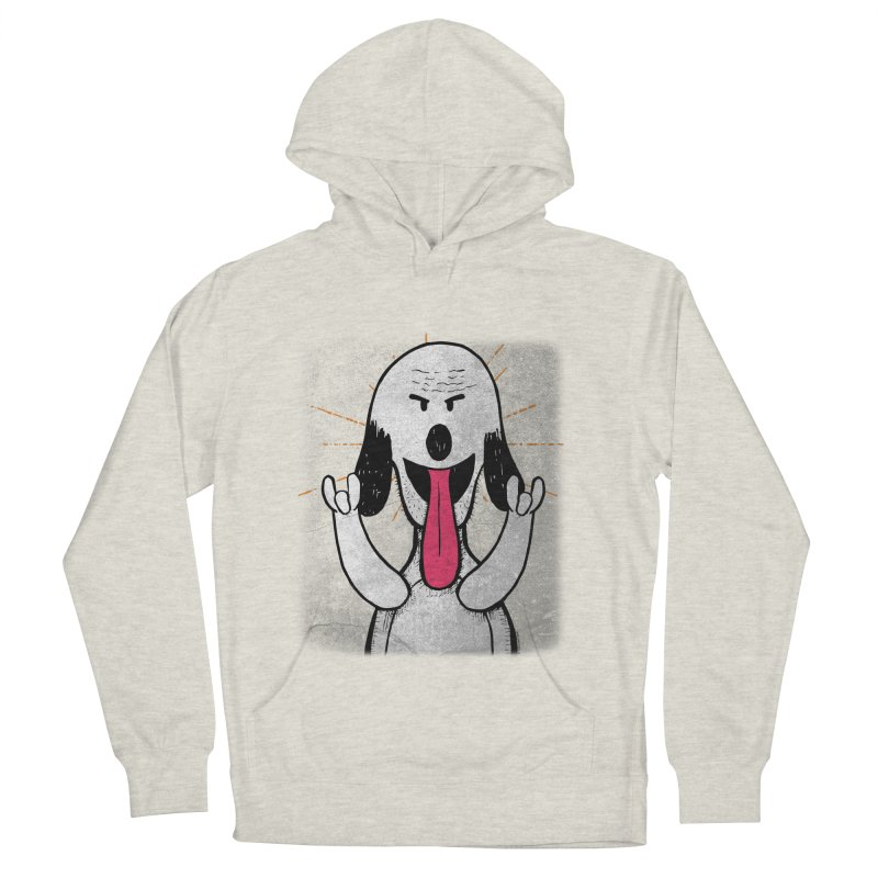 Guau Rocks in Men's French Terry Pullover Hoody Heather Oatmeal by Iggie No Pop's Artist Shop