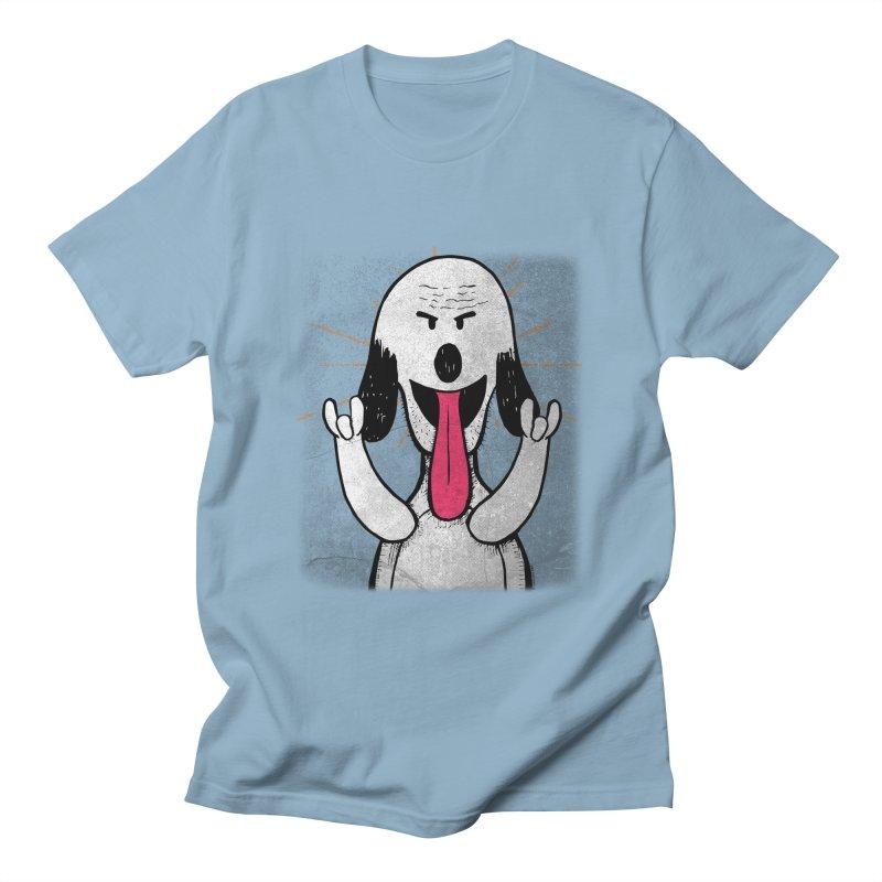 Guau Rocks in Men's Regular T-Shirt Light Blue by Iggie No Pop's Artist Shop