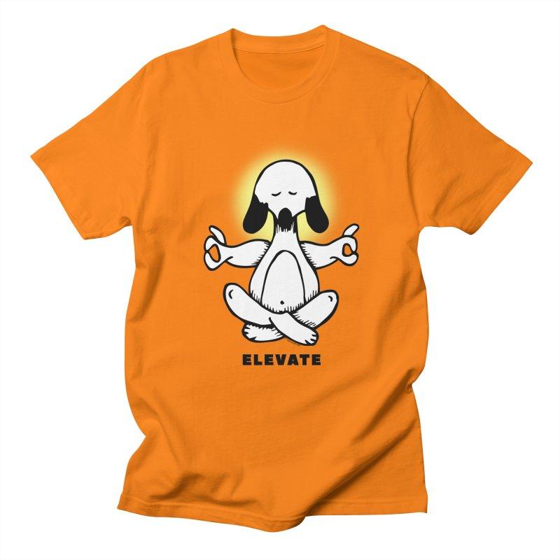 Guau - Meditation in Men's Regular T-Shirt Orange by Iggie No Pop's Artist Shop