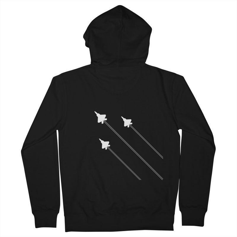 F22 Fighter Jets are coming! Men's Zip-Up Hoody by igloo's Artist Shop