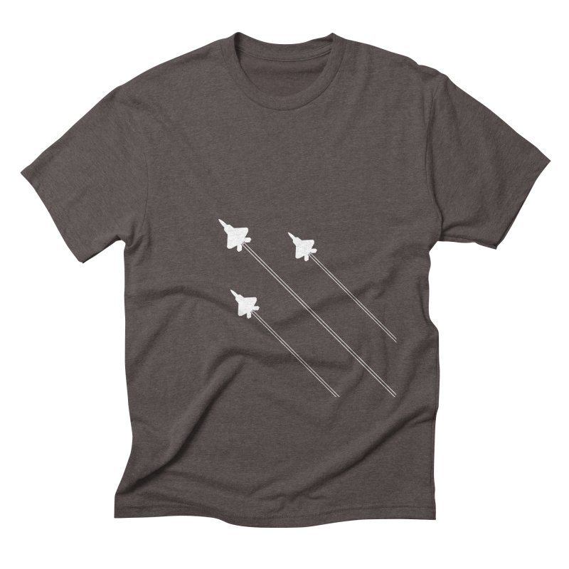 F22 Fighter Jets are coming! Men's Triblend T-Shirt by igloo's Artist Shop