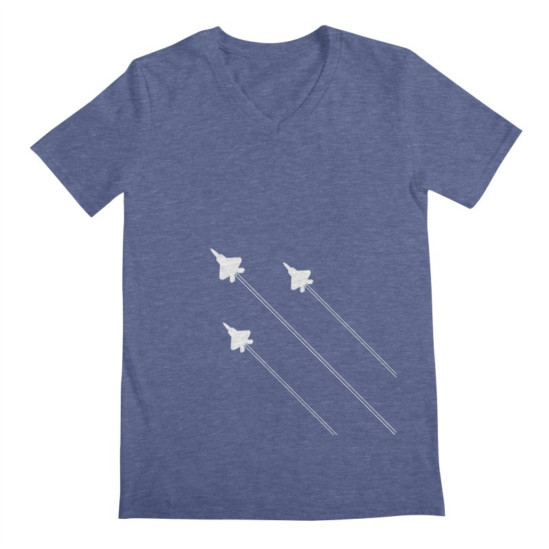F22 Fighter Jets are coming! Men's V-Neck by igloo's Artist Shop