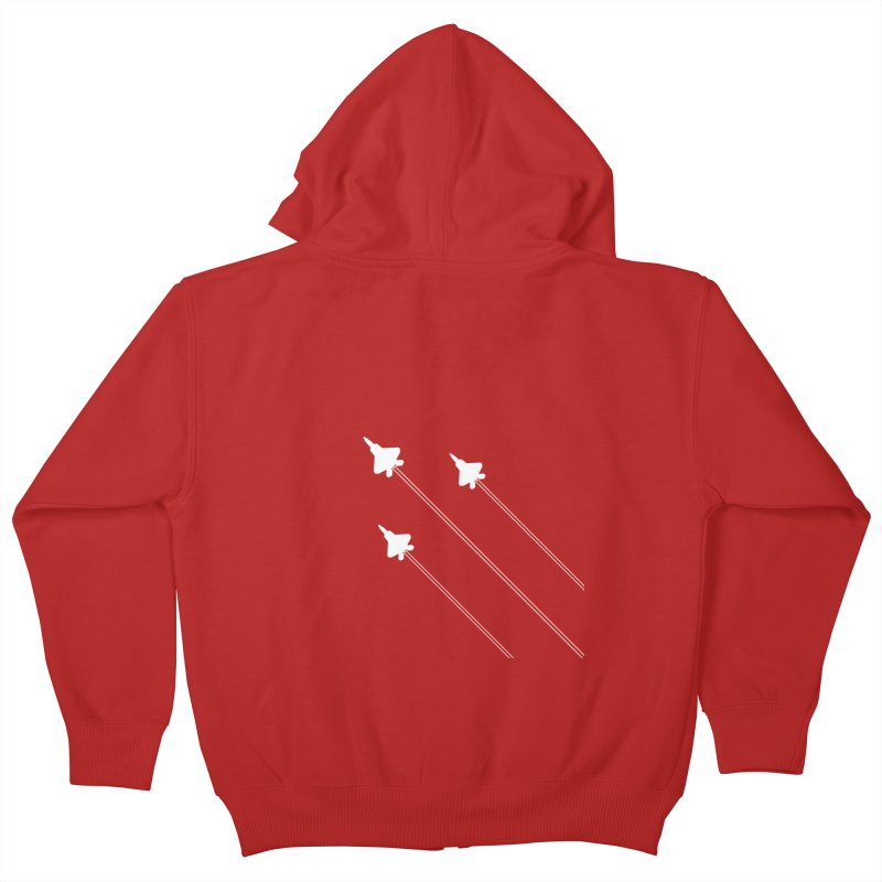 F22 Fighter Jets are coming! Kids Zip-Up Hoody by igloo's Artist Shop