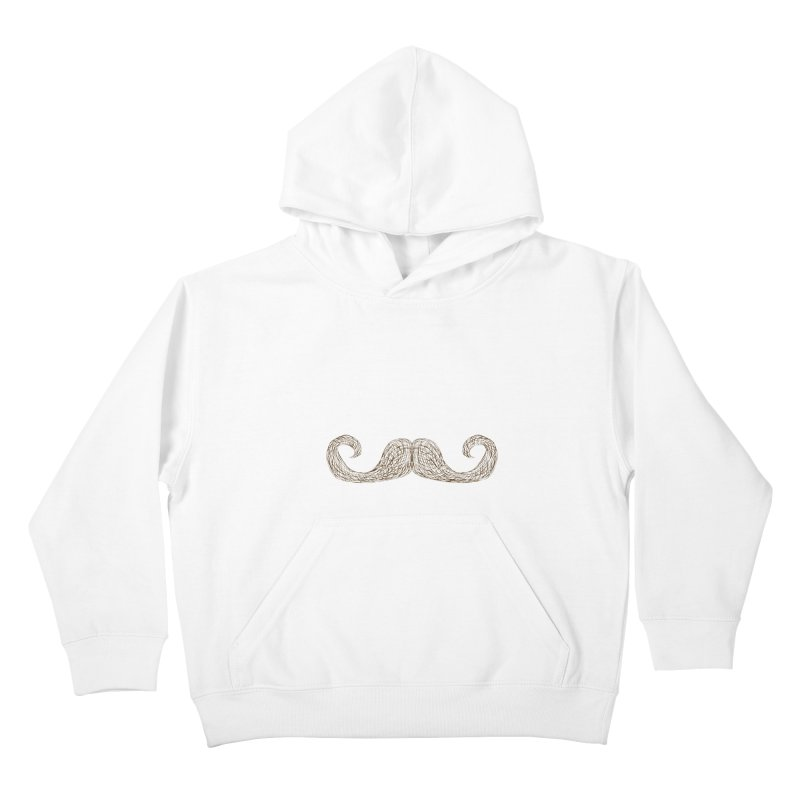 Moustache Inspector Kids Pullover Hoody by igloo's Artist Shop