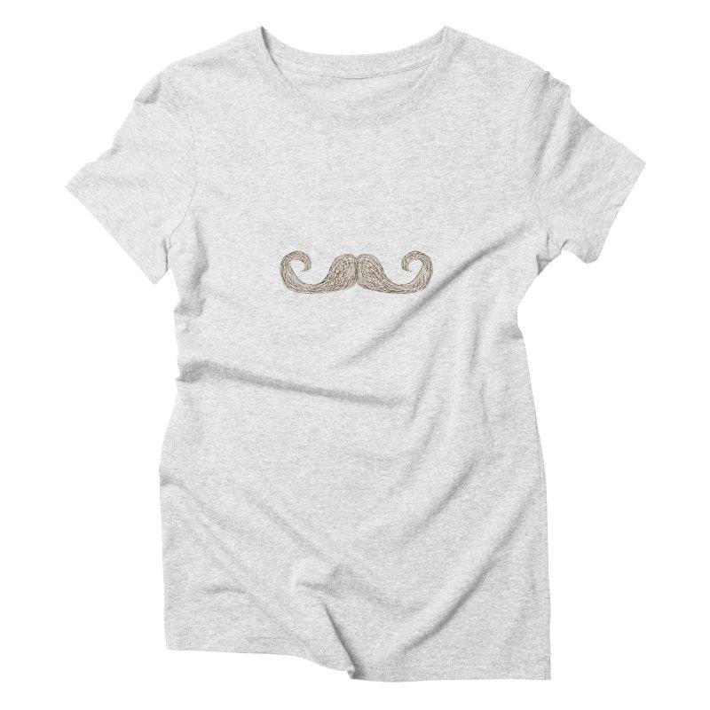Moustache Inspector Women's Triblend T-Shirt by igloo's Artist Shop