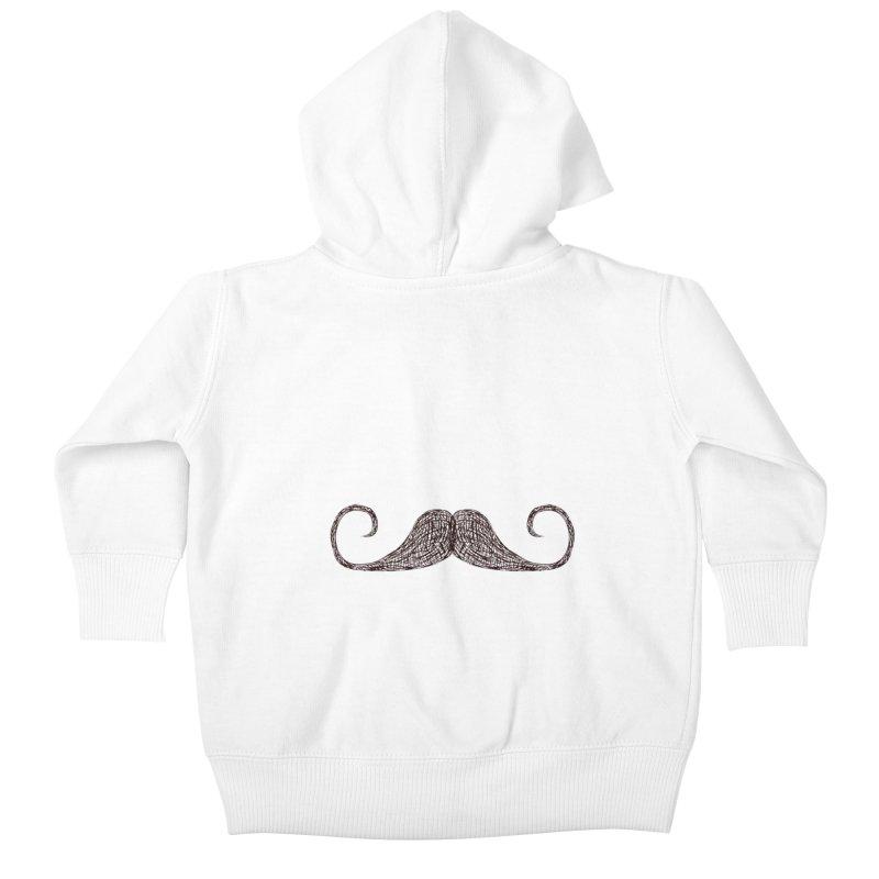 Mr Moustache Kids Baby Zip-Up Hoody by igloo's Artist Shop