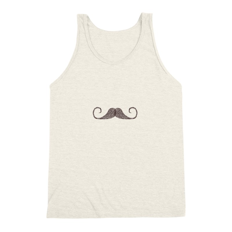 Mr Moustache Men's Triblend Tank by igloo's Artist Shop