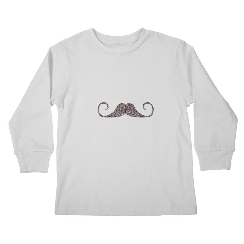 Mr Moustache Kids Longsleeve T-Shirt by igloo's Artist Shop