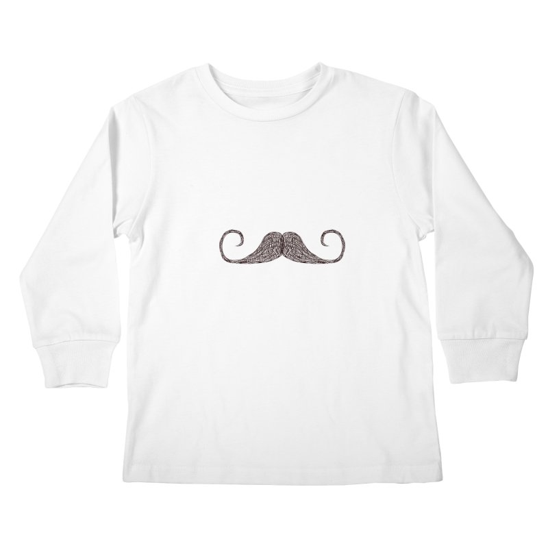 Mr Moustache Kids Longsleeve T-Shirt by igloo's Artist Shop