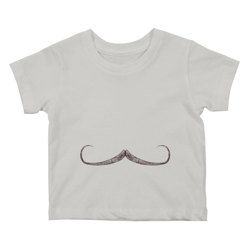 Handlebar Moustache Kids Baby T-Shirt by igloo's Artist Shop
