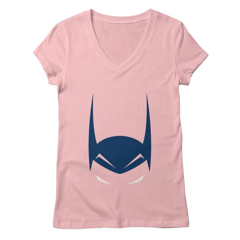 Bat Hat Women's V-Neck by igloo's Artist Shop