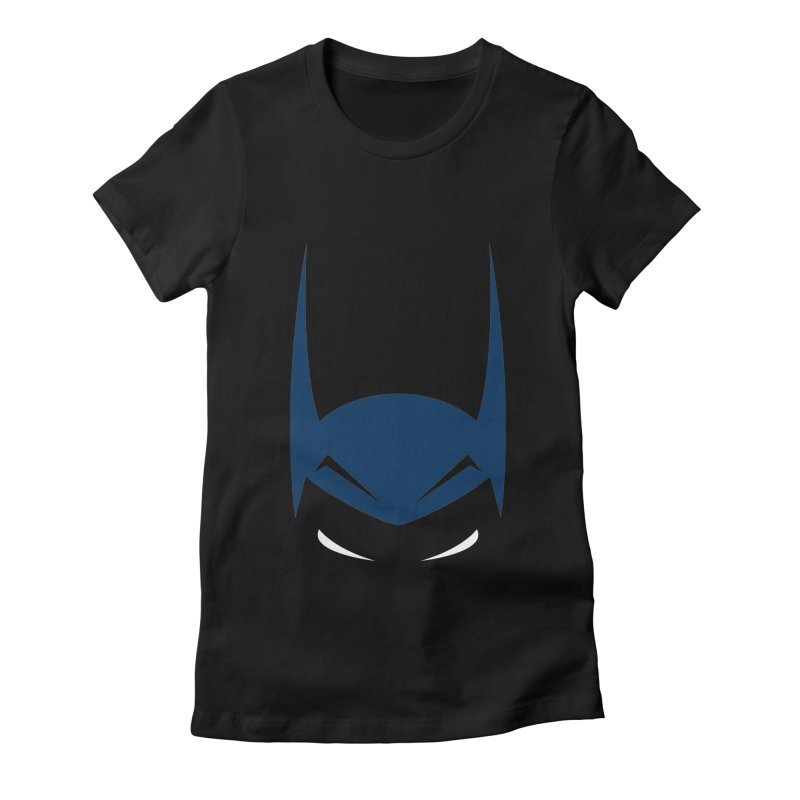 Bat Hat Women's Fitted T-Shirt by igloo's Artist Shop
