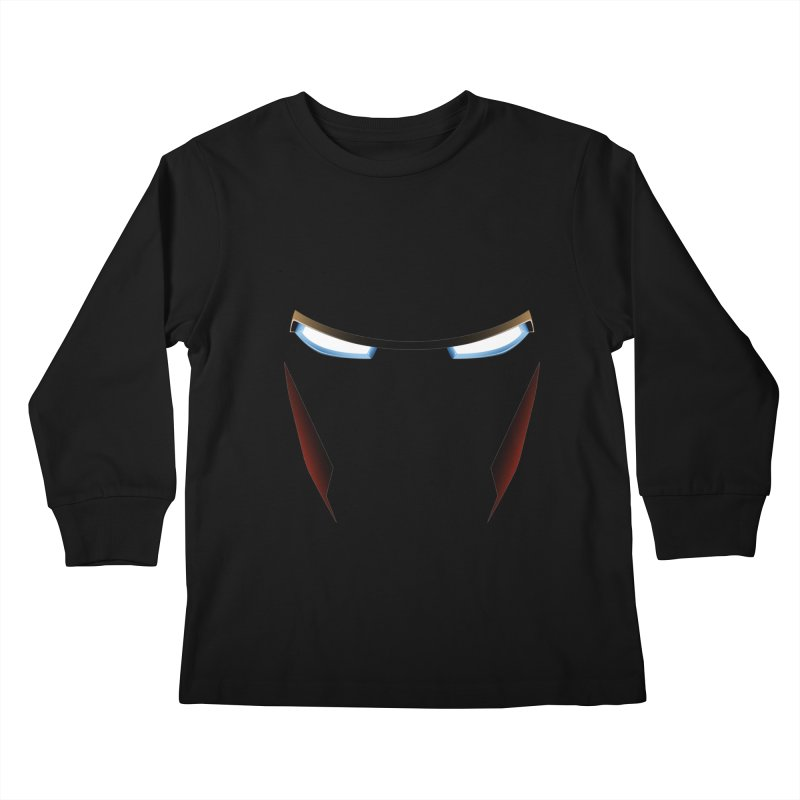 Iron Eyes Kids Longsleeve T-Shirt by igloo's Artist Shop