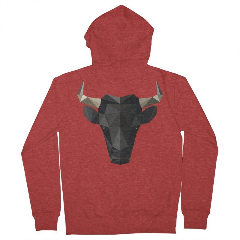 Bull Men's Zip-Up Hoody by igloo's Shiny Things