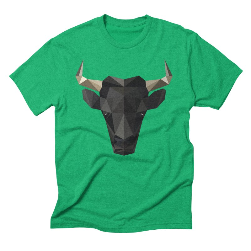Bull Men's Triblend T-Shirt by igloo's Shiny Things