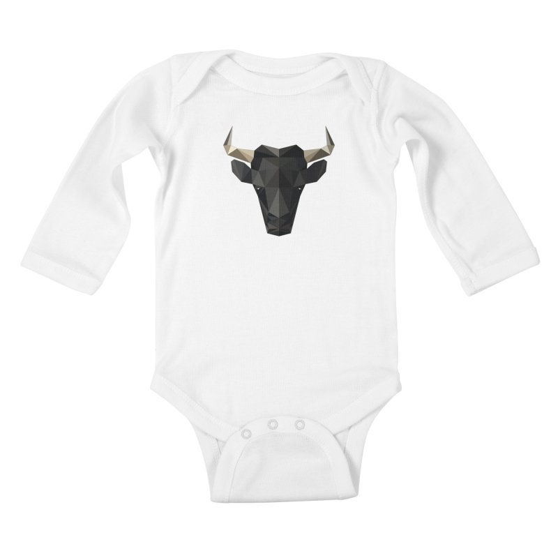 Bull Kids Baby Longsleeve Bodysuit by igloo's Shiny Things