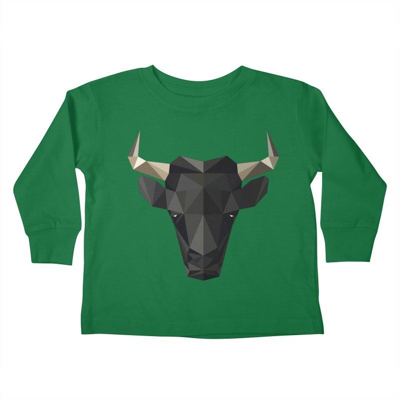 Bull Kids Toddler Longsleeve T-Shirt by igloo's Shiny Things