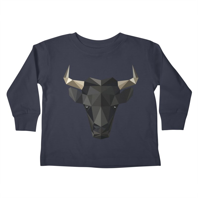 Bull Kids Toddler Longsleeve T-Shirt by igloo's Shiny Things