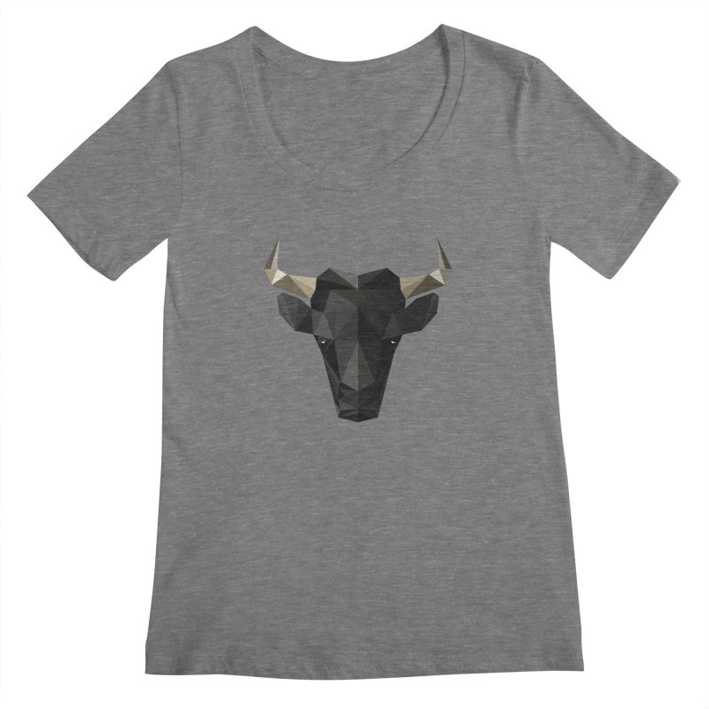 Bull Women's Scoopneck by igloo's Shiny Things
