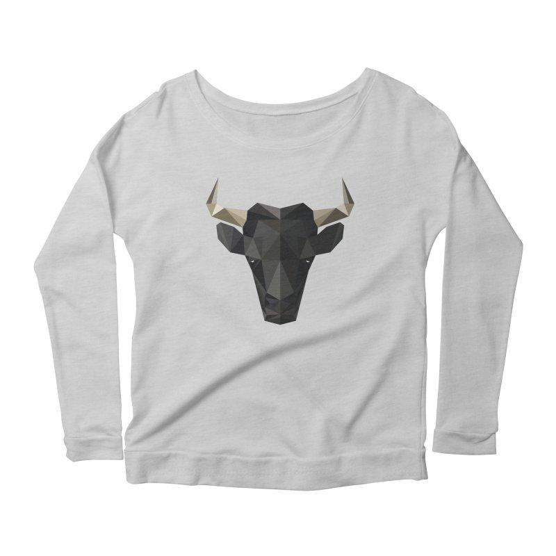 Bull Women's Longsleeve Scoopneck  by igloo's Shiny Things