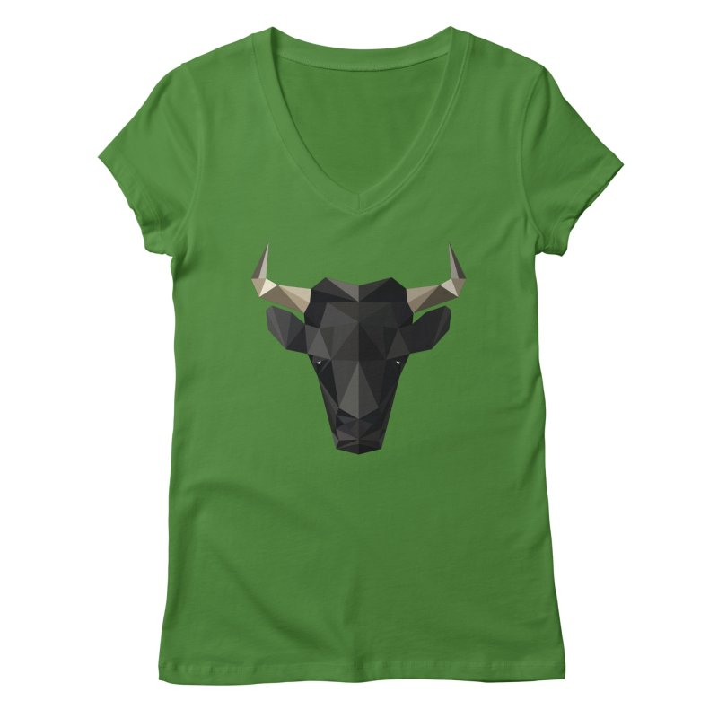 Bull Women's V-Neck by igloo's Shiny Things