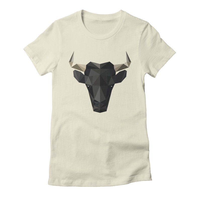 Bull Women's Fitted T-Shirt by igloo's Shiny Things