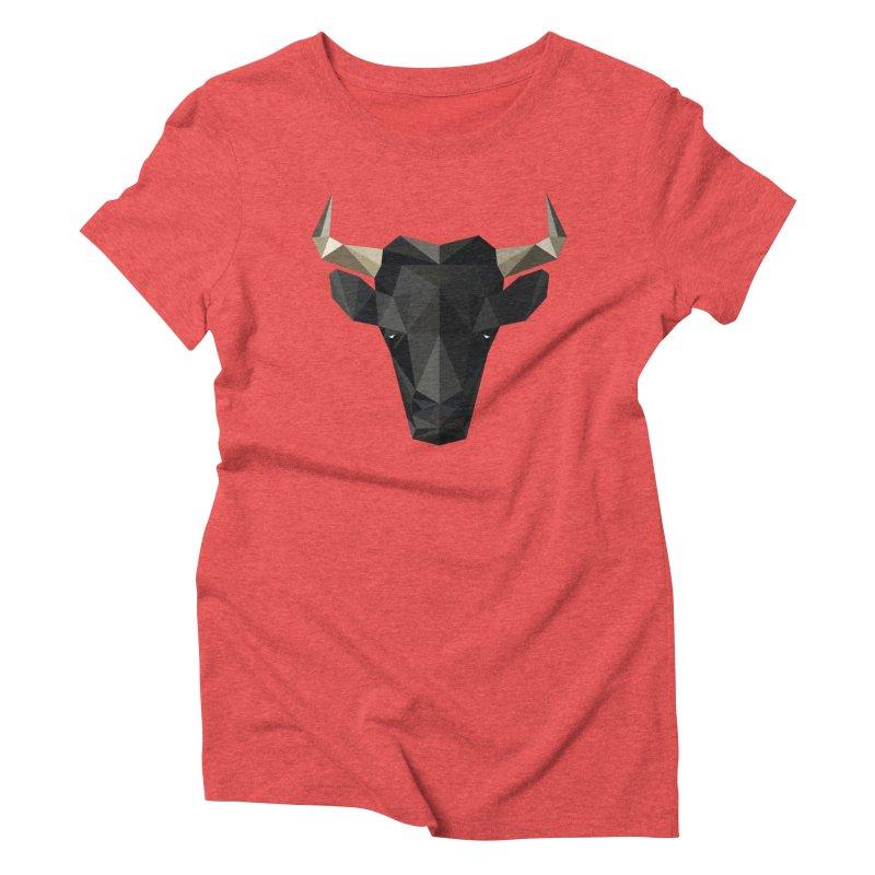 Bull Women's Triblend T-Shirt by igloo's Shiny Things