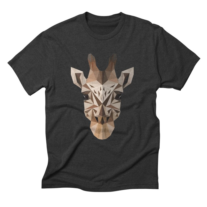 Giraffe Men's Triblend T-Shirt by igloo's Shiny Things