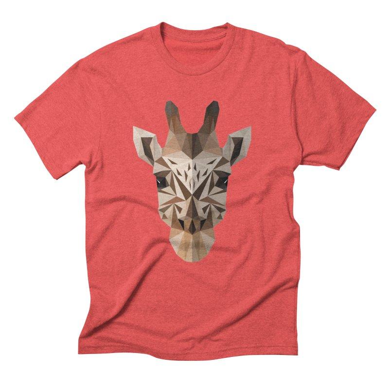 Giraffe Men's Triblend T-Shirt by igloo's Shiny Things