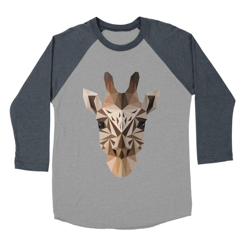 Giraffe Men's Baseball Triblend T-Shirt by igloo's Shiny Things
