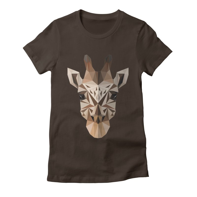 Giraffe Women's Fitted T-Shirt by igloo's Shiny Things