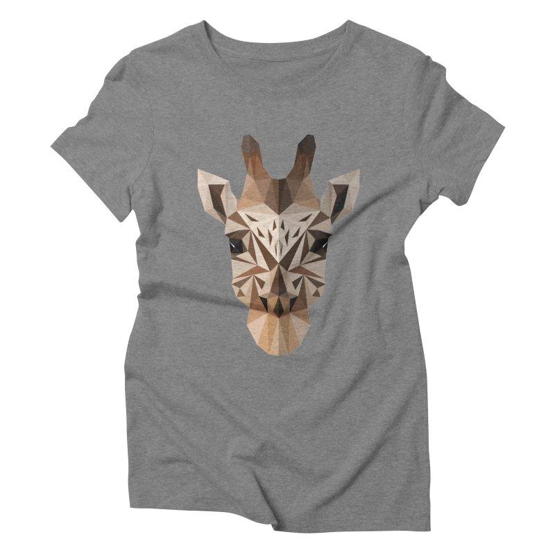 Giraffe Women's Triblend T-Shirt by igloo's Shiny Things