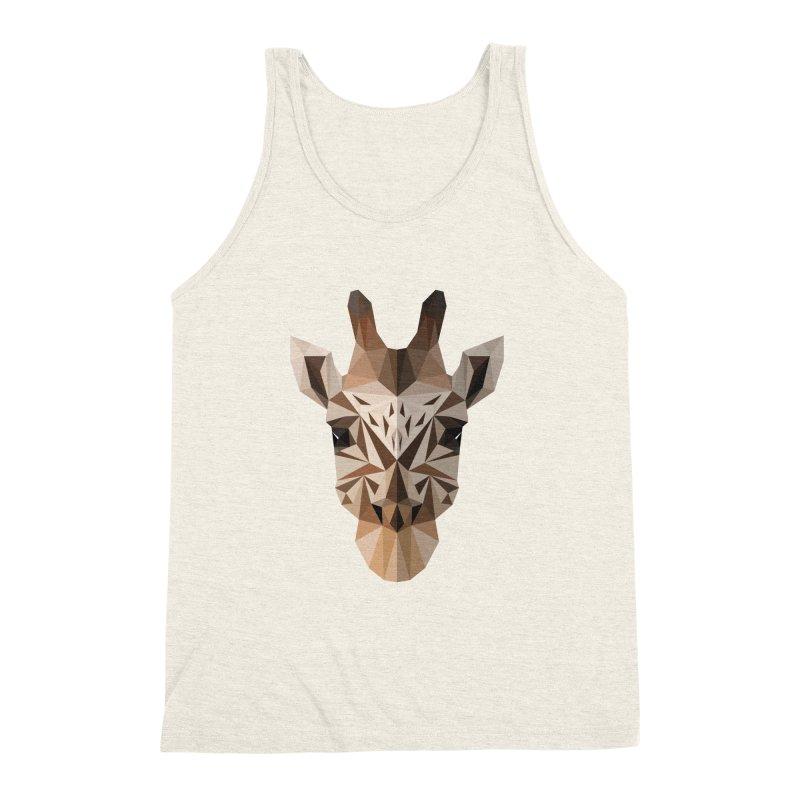 Giraffe Men's Triblend Tank by igloo's Shiny Things