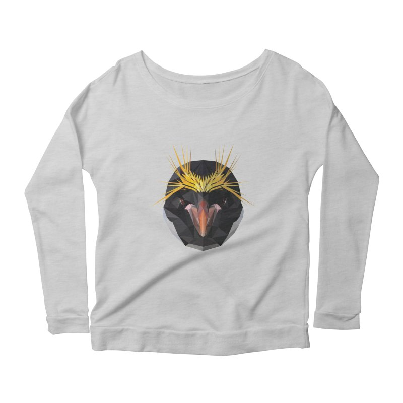 Unibrow Crown Champion Penguine Women's Longsleeve Scoopneck  by igloo's Shiny Things