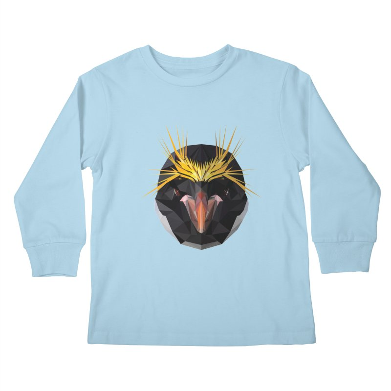 Unibrow Crown Champion Penguine Kids Longsleeve T-Shirt by igloo's Shiny Things