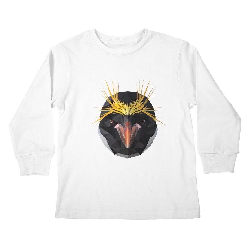 Unibrow Crown Champion Penguine Kids Longsleeve T-Shirt by igloo's Shiny Things