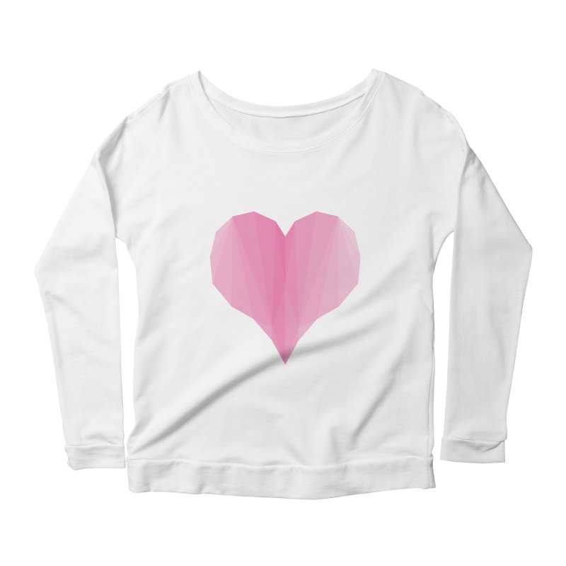 Pieces of Love Women's Longsleeve Scoopneck  by igloo's Shiny Things
