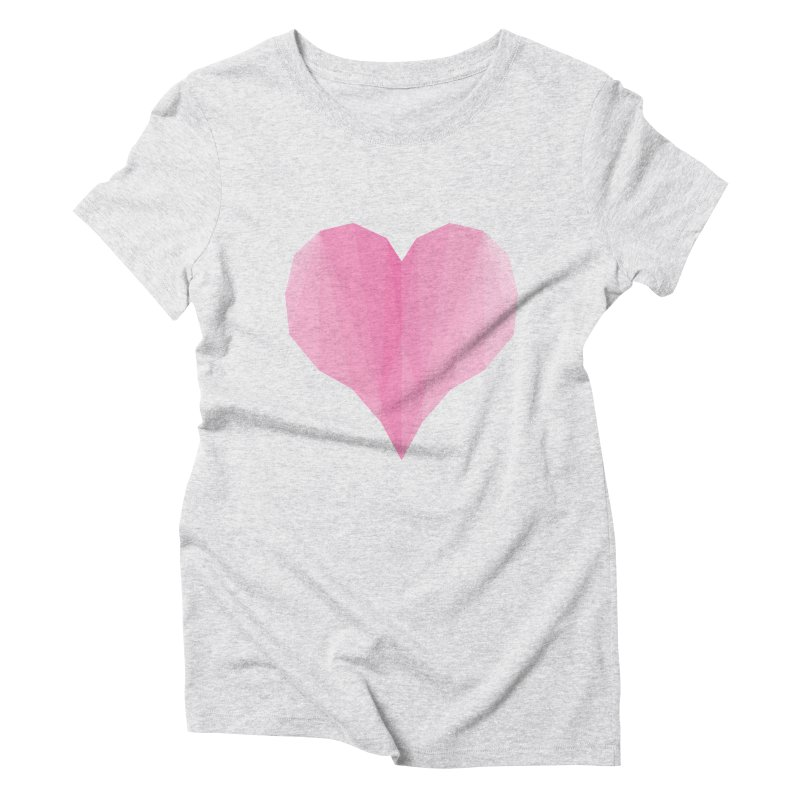 Pieces of Love Women's Triblend T-Shirt by igloo's Shiny Things