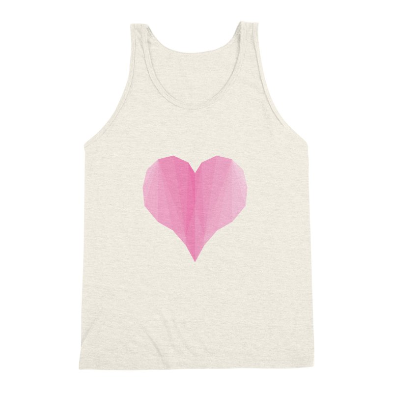 Pieces of Love Men's Triblend Tank by igloo's Shiny Things