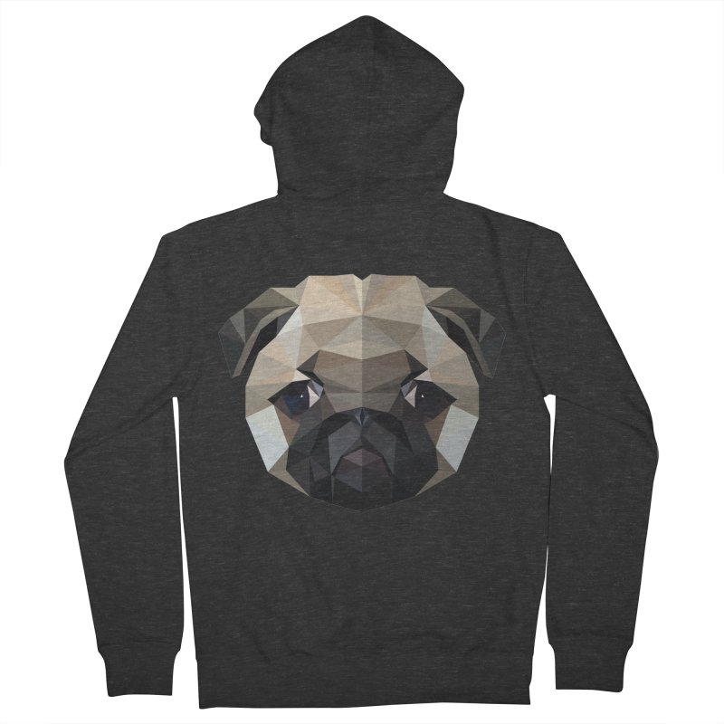 POLY PUG LIFE Women's Zip-Up Hoody by igloo's Shiny Things