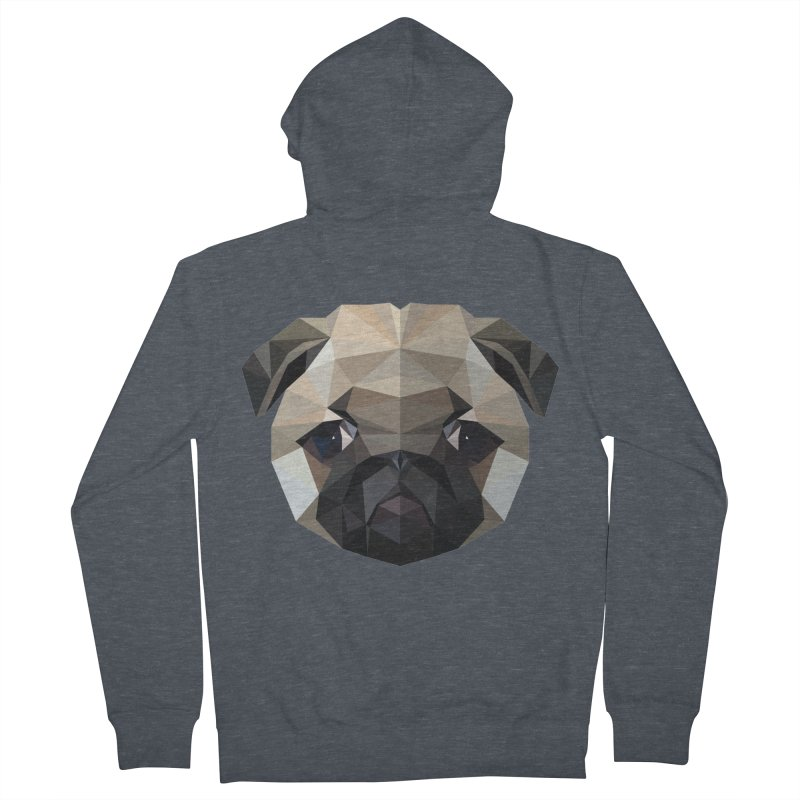 POLY PUG LIFE Men's Zip-Up Hoody by igloo's Shiny Things