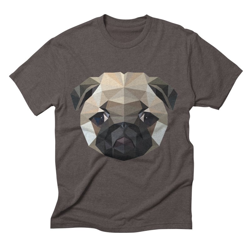POLY PUG LIFE Men's Triblend T-Shirt by igloo's Shiny Things