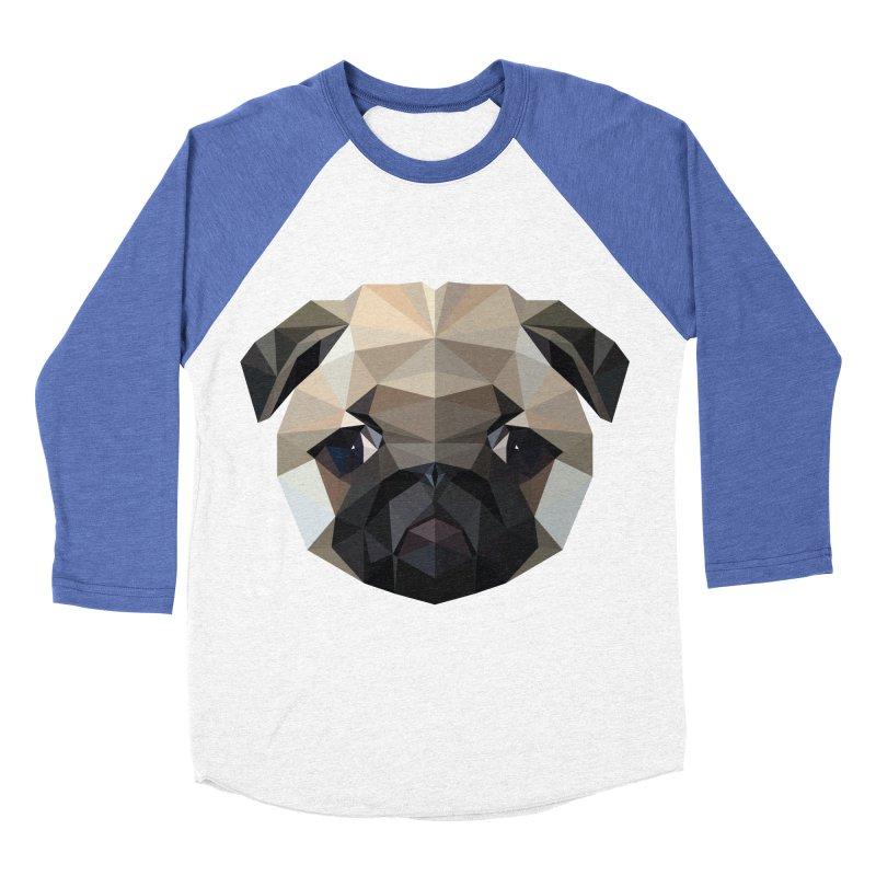 POLY PUG LIFE Men's Baseball Triblend T-Shirt by igloo's Shiny Things