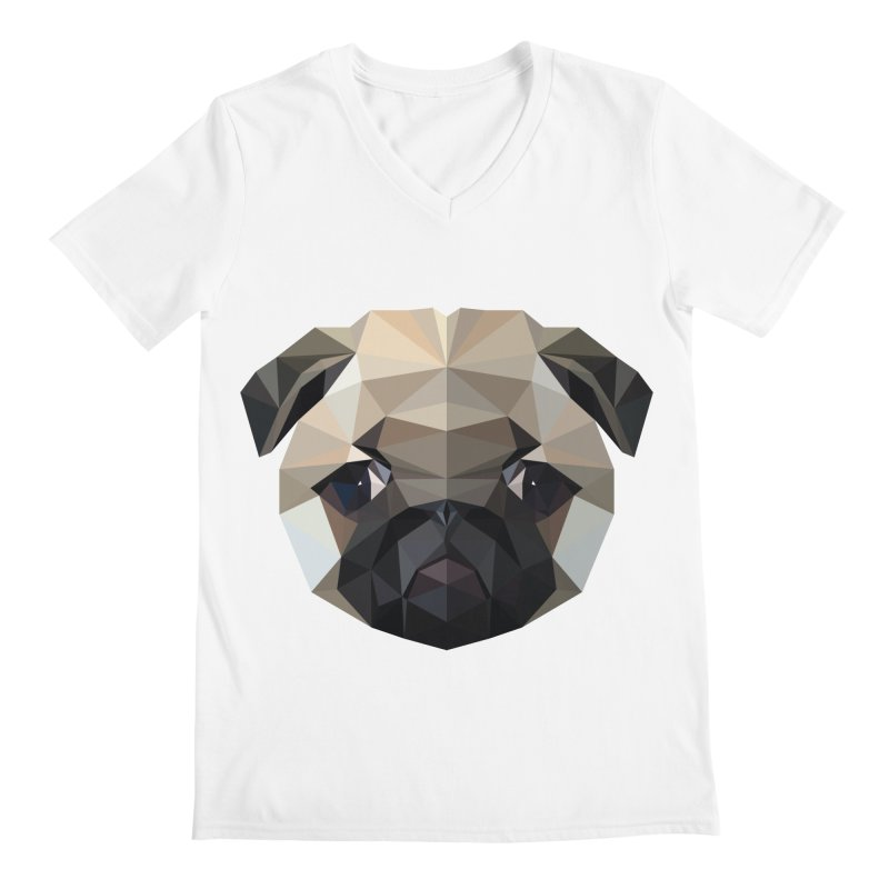 POLY PUG LIFE Men's V-Neck by igloo's Shiny Things