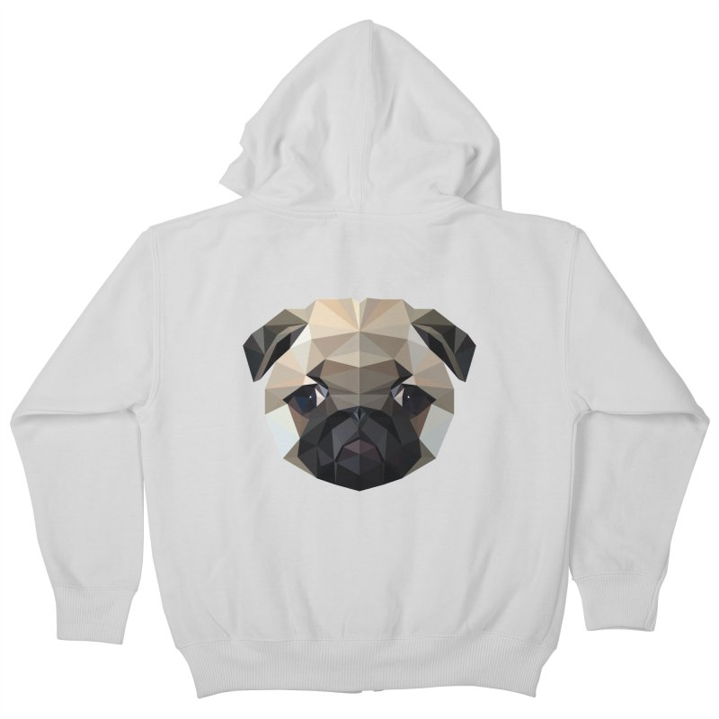 POLY PUG LIFE Kids Zip-Up Hoody by igloo's Shiny Things