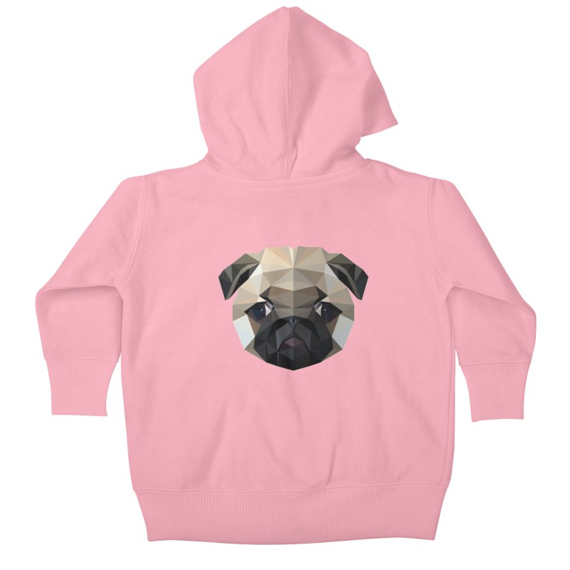 POLY PUG LIFE Kids Baby Zip-Up Hoody by igloo's Shiny Things