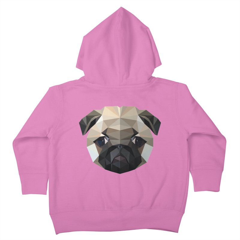 POLY PUG LIFE Kids Toddler Zip-Up Hoody by igloo's Shiny Things