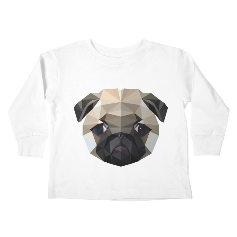 POLY PUG LIFE Kids Toddler Longsleeve T-Shirt by igloo's Shiny Things