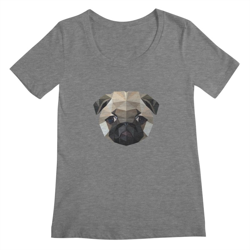 POLY PUG LIFE Women's Scoopneck by igloo's Shiny Things