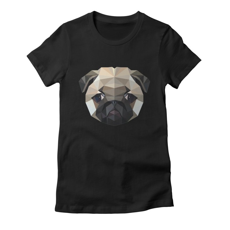 POLY PUG LIFE Women's Fitted T-Shirt by igloo's Shiny Things